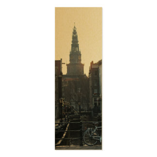 Amsterdam Oude Kerk Old Church Canal Bookmark Business Cards