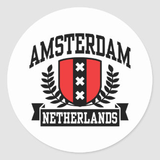 Amsterdam Pegatina Redonda