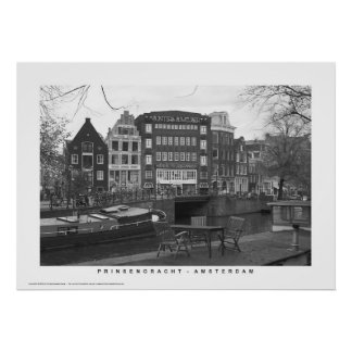 Amsterdam - Prinsengracht canal houses Print