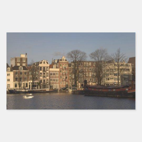 Amsterdam Rectangular Sticker