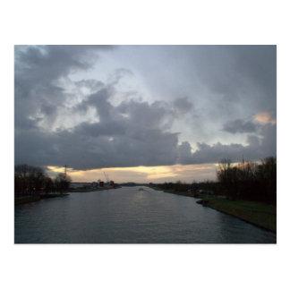 Amsterdam-Rhine Canal Postcard