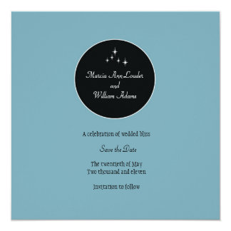 Amsterdam Save the Date: Powder Blue Card