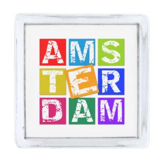 Amsterdam Silver Finish Lapel Pin