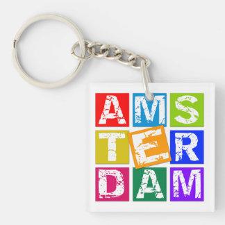 Amsterdam Single-Sided Square Acrylic Keychain