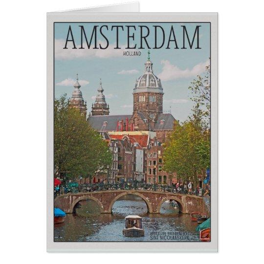 Amsterdam - Sint Nicolaaskerk Card
