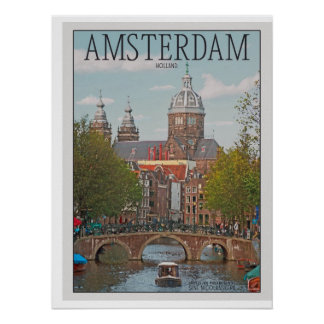 Amsterdam - Sint Nicolaaskerk Póster