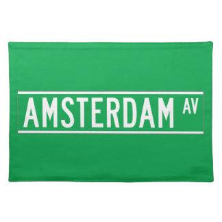 Amsterdam sistema de pesos americano, placa de manteles individuales