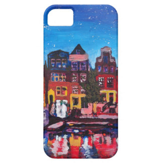 Amsterdam Skyline With Canal At Night iPhone 5 Case