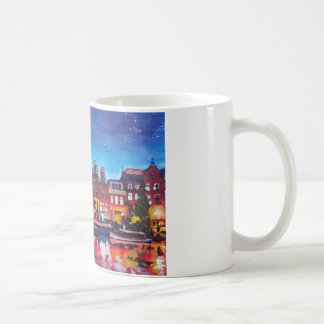 Amsterdam Skyline With Canal At Night Mug