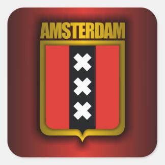Amsterdam Steel Flag Square Sticker