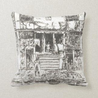 Amsterdam Steps 1880 Throw Pillow