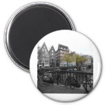 Amsterdam street 2 inch round magnet