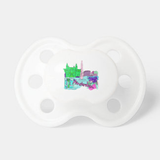 amsterdam teal city image png baby pacifier
