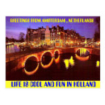 AMSTERDAM THE HOTTEST PLACE TO BE POST CARD