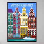 Amsterdam. Trabajo original por BooPooBeeDoo Póster