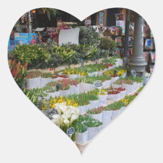 Amsterdam Tulip Market Heart Sticker