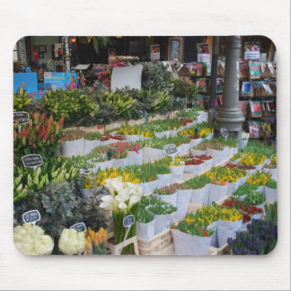 Amsterdam Tulip Market Mouse Pad