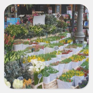 Amsterdam Tulip Market Square Sticker