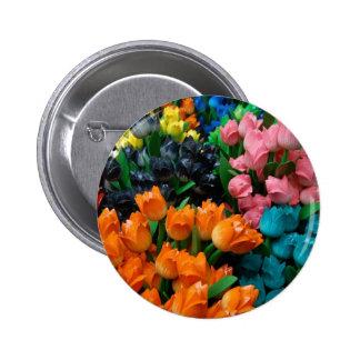 Amsterdam Tulips Pinback Button