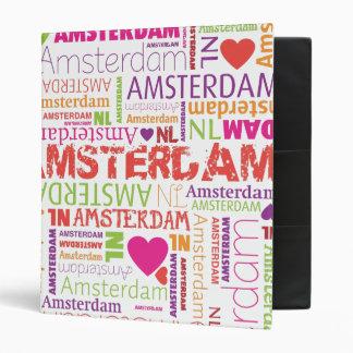 Amsterdam typography photo album binder