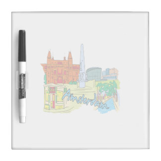 amsterdam vacation graphic image.png Dry-Erase board