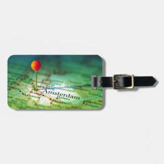 AMSTERDAM Vintage Map Luggage Tag