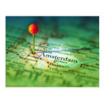 AMSTERDAM Vintage Map Post Cards
