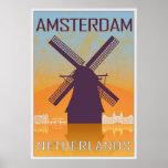 Amsterdam vintage poster póster