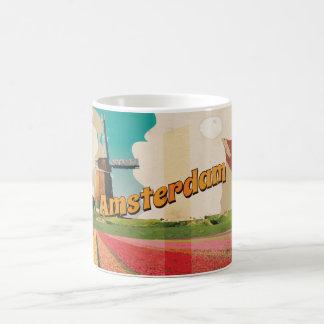 Amsterdam Vintage Travel Poster Coffee Mug