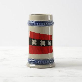 Amsterdam Waving Flag Coffee Mugs