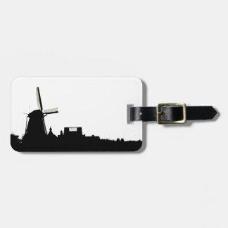 Amsterdam windmill bag tag