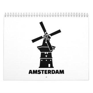 Amsterdam windmill wall calendars