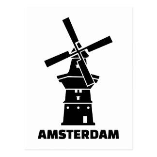 Amsterdam windmill postcard
