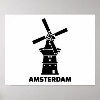 Amsterdam windmill posters