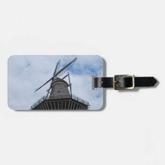Amsterdam Windmill with Blue Sky Bag Tag