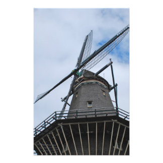 Amsterdam Windmill with Blue Sky Flyer