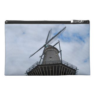 Amsterdam Windmill with Blue Sky Travel Accessory Bag