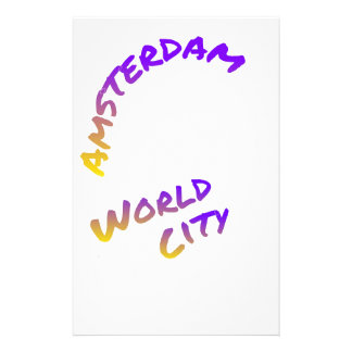 Amsterdam world city letter art color Netherlands Stationery