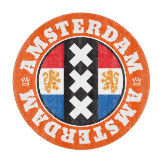 Amsterdam XXX City Symbol with Dutch Flag Cutting Board