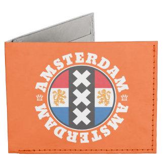 Amsterdam XXX City Symbol with Dutch Flag Tyvek Wallet