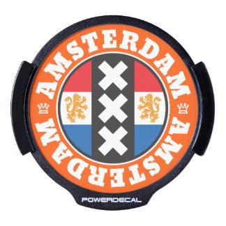 Amsterdam XXX City Symbol with Dutch Flag LED Car Decal