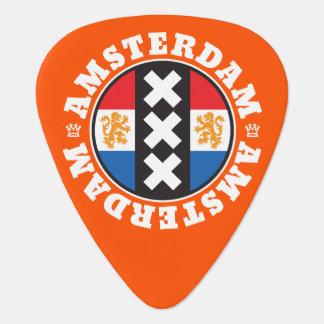 Amsterdam XXX City Symbol with Dutch Flag Guitar Pick