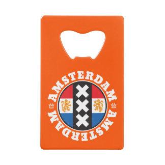 Amsterdam XXX City Symbol with Dutch Flag Credit Card Bottle Opener