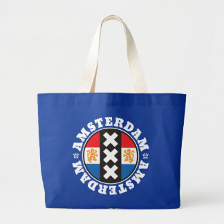 Amsterdam XXX City Symbol with Dutch Flag Large Tote Bag