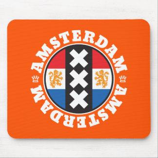 Amsterdam XXX City Symbol with Dutch Flag Mouse Pad