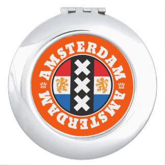 Amsterdam XXX City Symbol with Dutch Flag Makeup Mirror