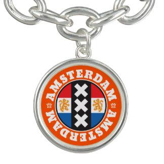 Amsterdam XXX City Symbol with Dutch Flag Charm Bracelets