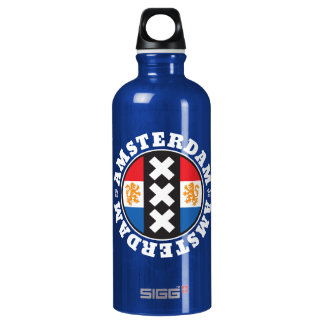 Amsterdam XXX City Symbol with Dutch Flag SIGG Traveler 0.6L Water Bottle