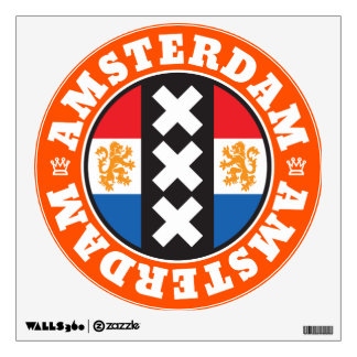 Amsterdam XXX City Symbol with Dutch Flag Room Decals