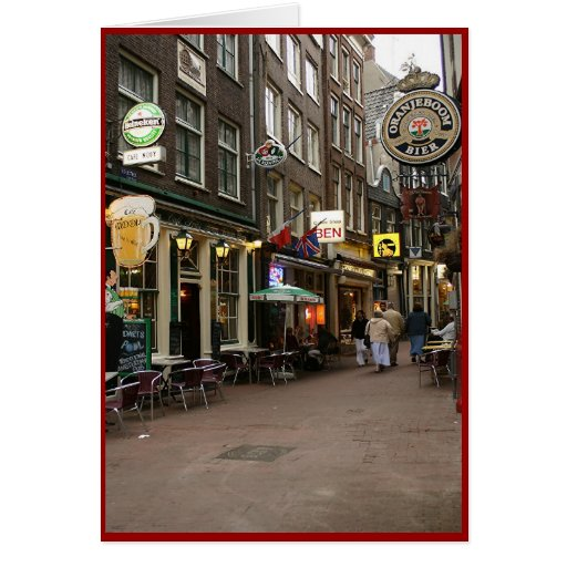Amsterdam's Beer Alley Card